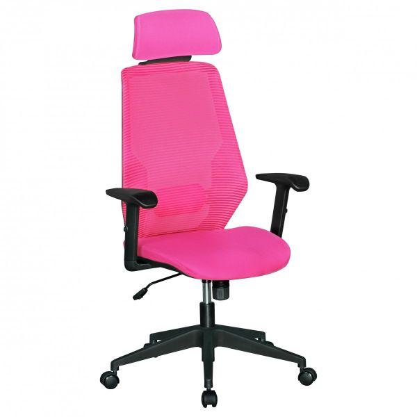 NETSTAR Bürostuhl,Schreibtischstuhl, Stoffbezug Pink