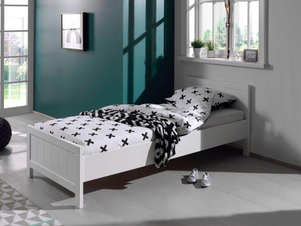 Erik Einzelbett 90 x 200 cm, Weiß | Schlafzimmer > Betten > Funktionsbetten | Weiß | Vipack