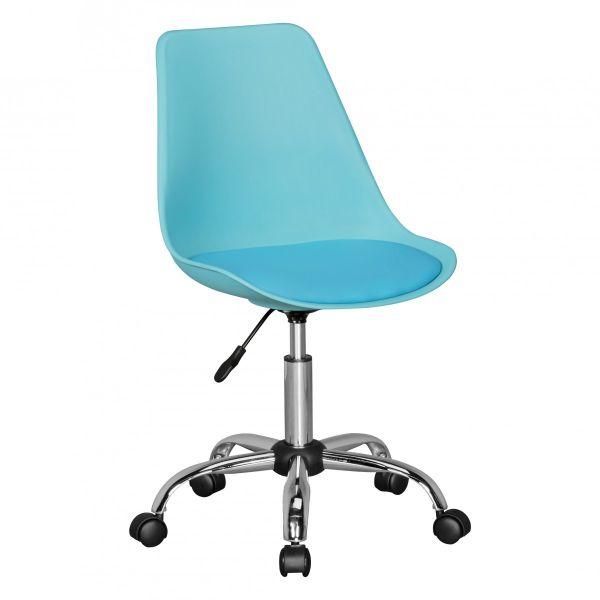 KORSIKA Drehstuhl Schreibtischstuhl, Kunstleder Blau