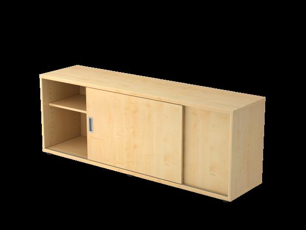 Sideboard 1,5 Ordnerhöhen, beidseitig nutzbar, Ahorn