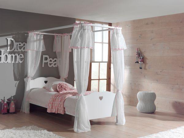 Set Amori best. aus: Himmelbett und Textil-Vorhang, Weiß