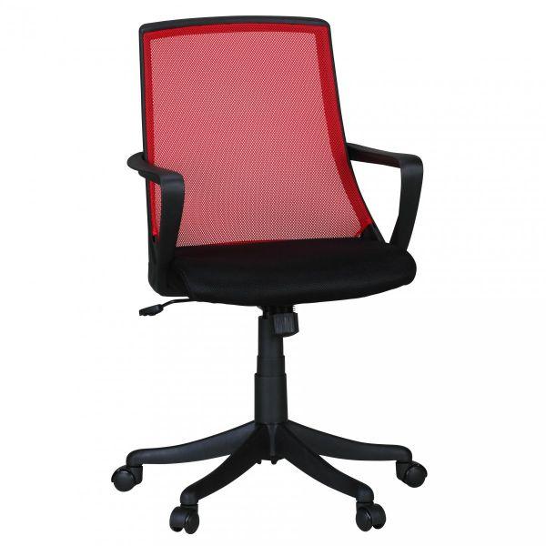 FABIO Bürostuhl Schreibtischstuhl Drehstuhl Jugendstuhl, Rot