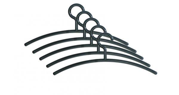 Schwarze Kleiderbügel Kunststoff 6004, 5er Pack