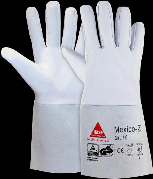 10 Paar - MEXICO-Z-35, 5 Finger -Sicherheitshandschuhe für Schweisser