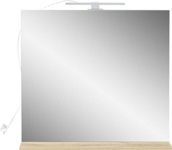 """YouHappy® Spiegel """"Skandinavia"""", mit LED-Beleuchtung, Navarra-Eiche, 76 x 75 x 15 cm"""