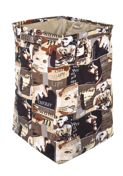 Wäschesammler, bunt, Textil Canvas, 36x36x56cm