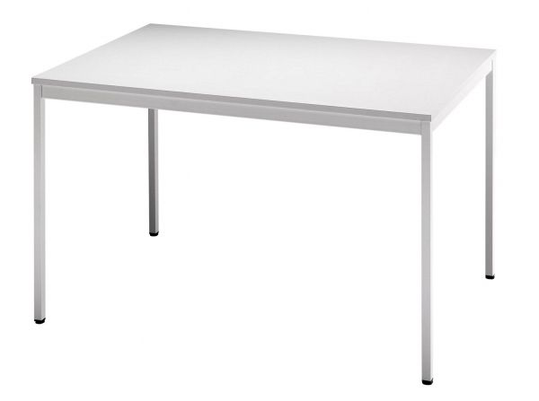 Besprechungstisch VS12 120x80cm Grau 4-Fuß Gestellfarbe: Grau
