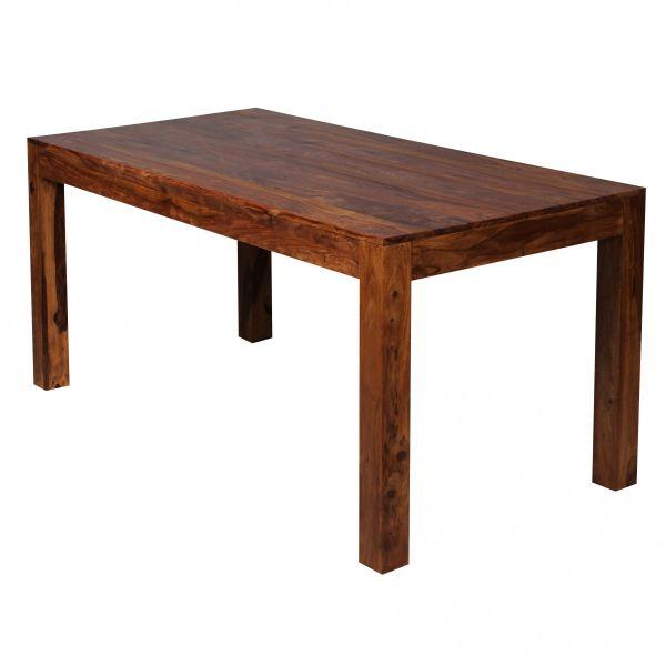 Design Esstisch Holz Massiv 160 x 80 x 76 cm | Moderner Esszimmertisch Sheesham Palisander für 6 - 8