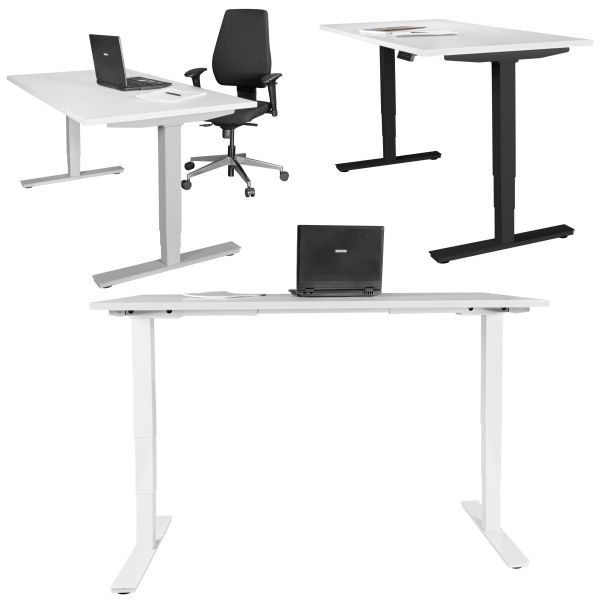 Elektrisch höhenverstellbares Schreibtischgestell mit Memory Funktion, schwarz