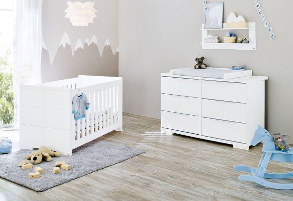 Kinderzimmer Sparset 'Polar' extrabreit, weiß