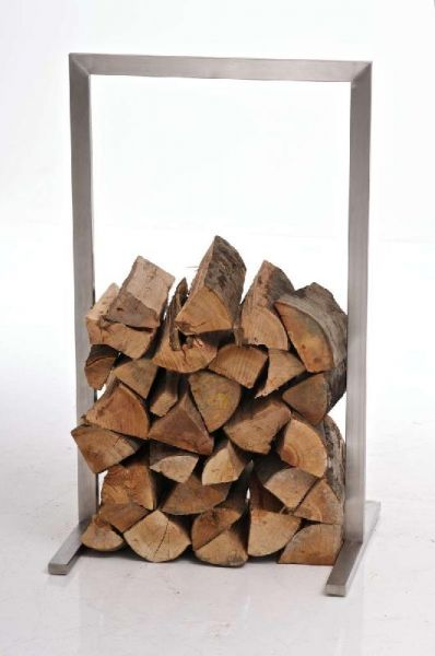 Kaminholzständer Sidone 100x100, silber
