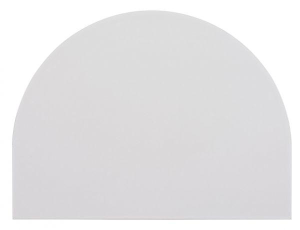 Tischplatte 60x80cm, Systembohrung für Stützfuß, Grau
