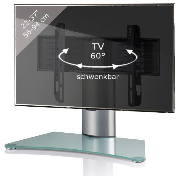 TV Tisch-Standfuß Windoxa Mini - Silber | Wohnzimmer > TV-HiFi-Möbel > Ständer & Standfüße | Silber | VCM-Möbel