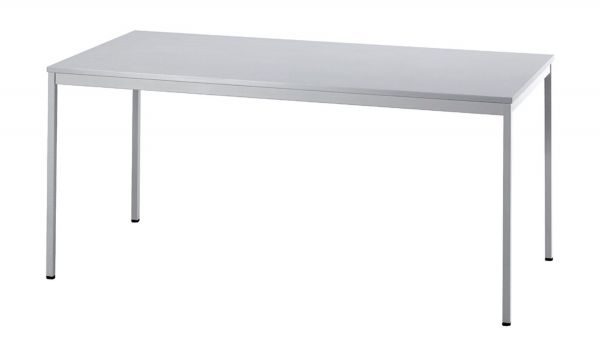 Besprechungstisch VS16 160x80cm Grau 4-Fuß Gestellfarbe: Grau