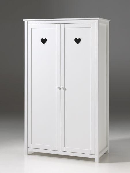 Kleiderschrank 2-trg. Amori, Weiß