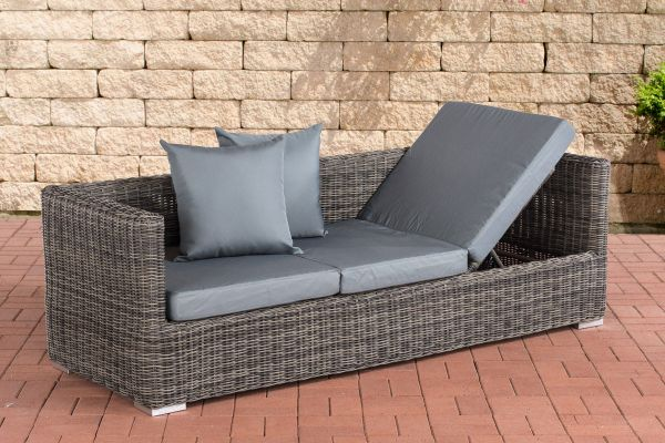 Lounge-Sofa Solano 5mm Eisengrau, grau-meliert