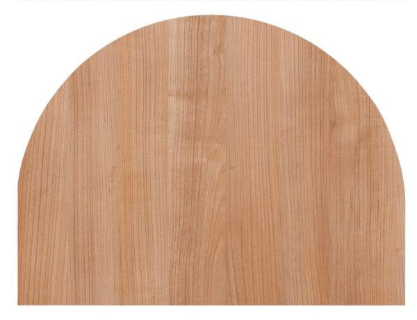 Tischplatte 60x80cm, Systembohrung für Stützfuß, Nussbaum