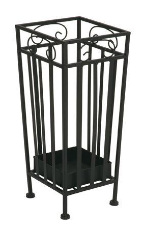 Schirmständer, schwarz, Stahlrohr, 20x20x46cm