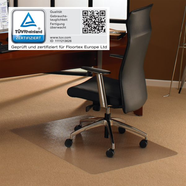 Bodenschutzmatte, 120 x 200 cm, rechteckig, transparent