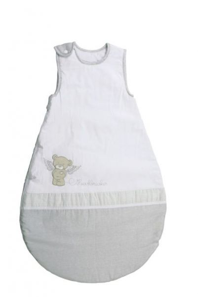 Schlafsack 'Heartbreakerbär' 70cm weiß