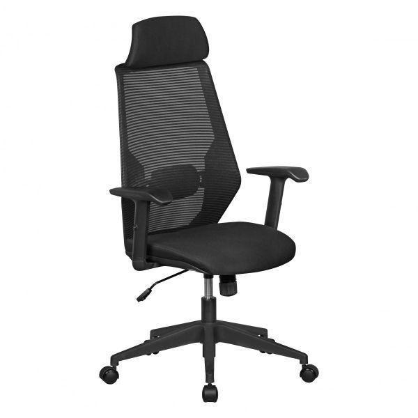 NETSTAR Bürostuhl, Schreibtischstuhl, Stoffbezug Schwarz