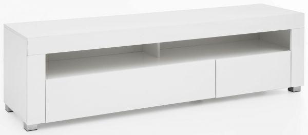 Lowboard WL5.716 155x40x46 cm Weiß Hochglanz Holz HiFi Regal Weiß