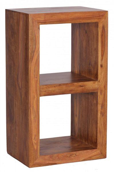MUMBAI Standregal Massivholz Sheesham, 2 Böden, Design Holz-Regal