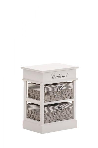 Schön Regal Cabinet 2 Körbe, Weiß