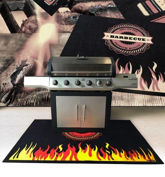 Grill-/Gartenmatte, 100 x 120 cm, Design: Flamme