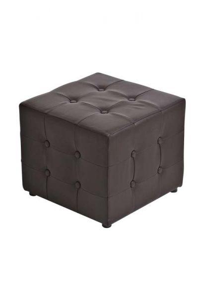 Sitzhocker Cubic, braun