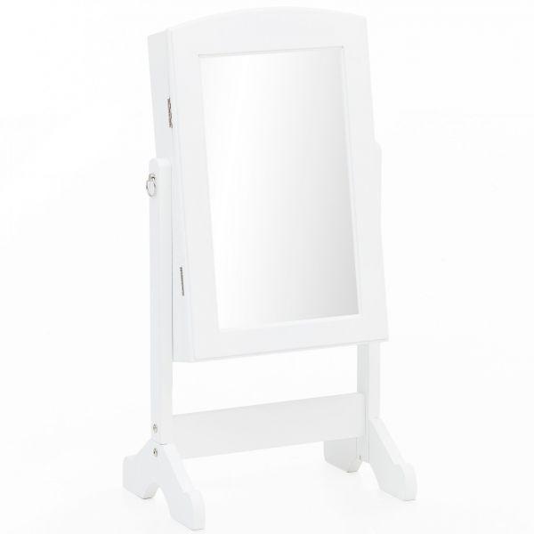 Spiegelschrank WL5.722 Weiß Holz 33 x 73 x 27 cm Schmuckspiegel Stehend