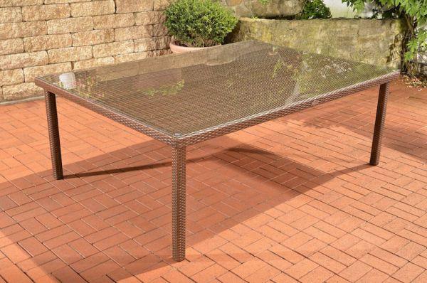 Tisch Pizzo / Tropea 210x150 cm, braun-meliert