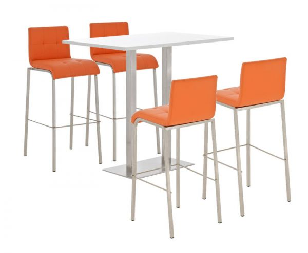 Bar Set Velosa, weiss glanz , orange