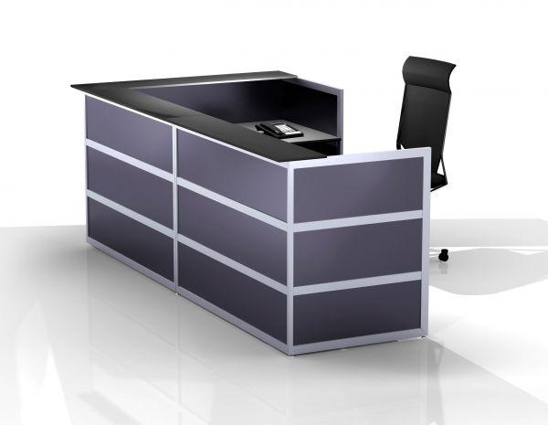 Komplett-Theke ECKIG / Anthrazit / Anthrazit / 297x110x150 cm | Küche und Esszimmer > Bar-Möbel > Tresen und Theken | BST-Design