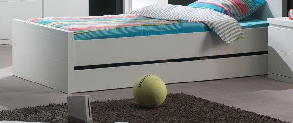 Bettschublade für Einzelbett Lara, Weiß