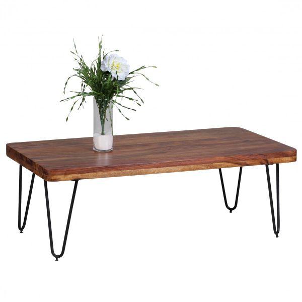 Sheesham Couchtisch, Wohnzimmer-Tisch, 115 cm breit, Massiv-Holz