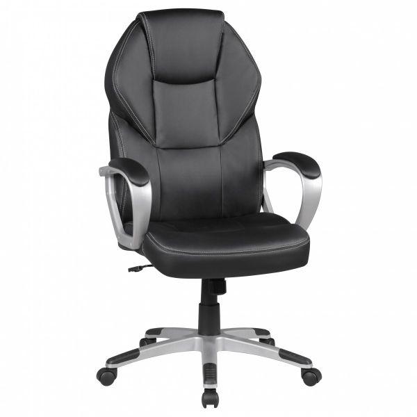 DETROIT Bürostuhl Schreibtischstuhl Drehstuhl, Kunstleder Schwarz