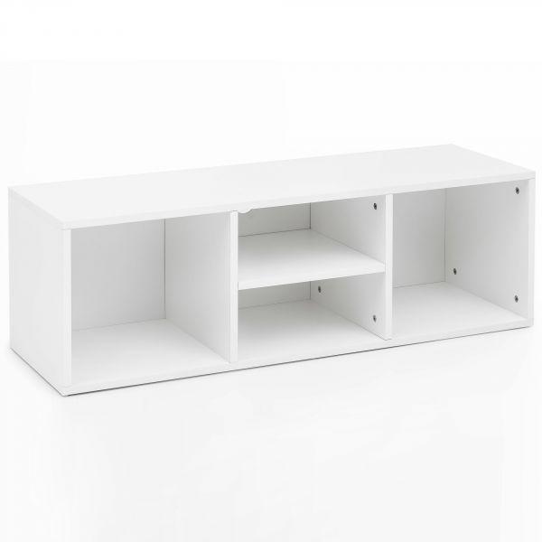 Schuhbank WL5.710 105x35x35cm Weiß Schuhe Holz Sitzbank Flur Klein
