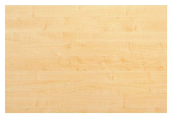 Tischplatte 120x80cm mit Systembohrung für Stützfuß, Ahorn