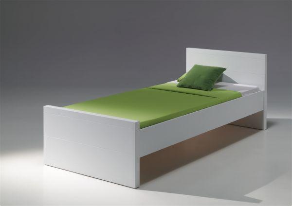 Einzelbett Lara 90x200 cm, Weiß