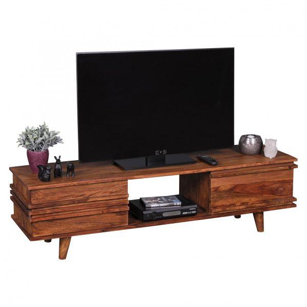 Sheesham TV-Board, Lowboard, Massivholz, 145 cm