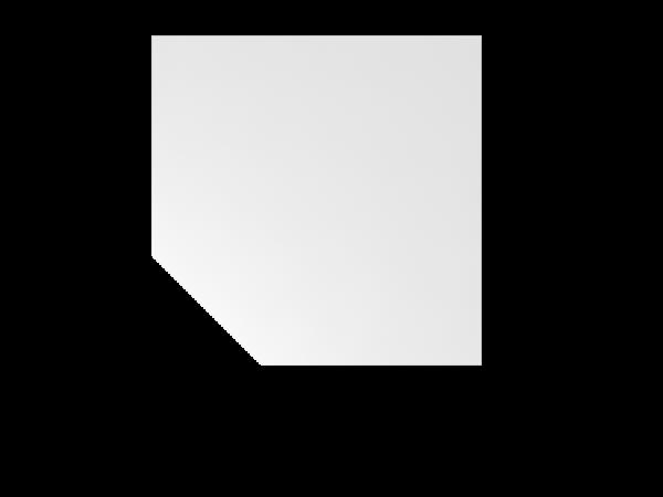 Verkettungsplatte BT12 120x120cm trapezförmig mit Stützfuß Weiß