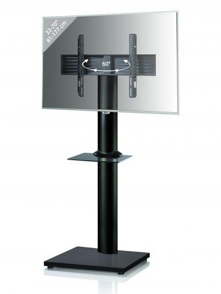 TV-Standfuß Onu Black Edition mit Zwischenboden - Schwarz | Wohnzimmer > TV-HiFi-Möbel > Ständer & Standfüße | Black - Schwarz | VCM-Möbel