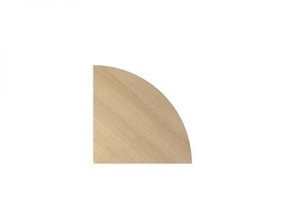 Tischplatte Viertelkreis 80cm mit Systembohrung Eiche