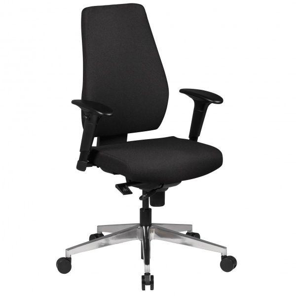 DARIUS Bürostuhl, Schreibtischstuhl mit 3-Punkt Synchronmechanik, Schwarz