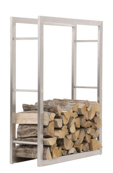 Kaminholzständer Keri 25x80x150, edelstahl