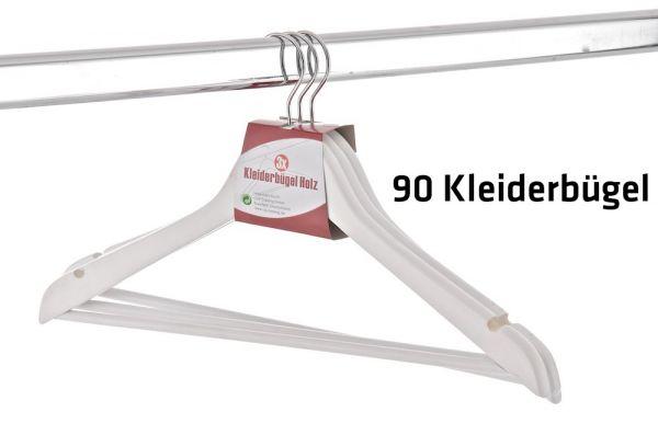 90 x Kleiderbügel, weiß