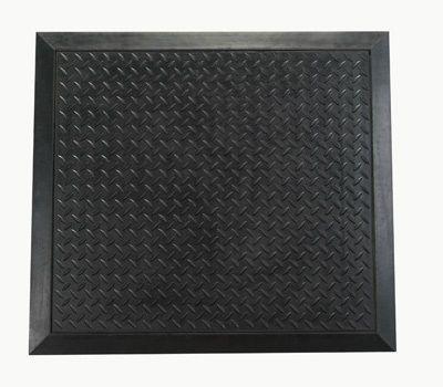 Anti-Ermüdungsmatte, 71 x 78 cm, schwarz, Riffelblechstruktur