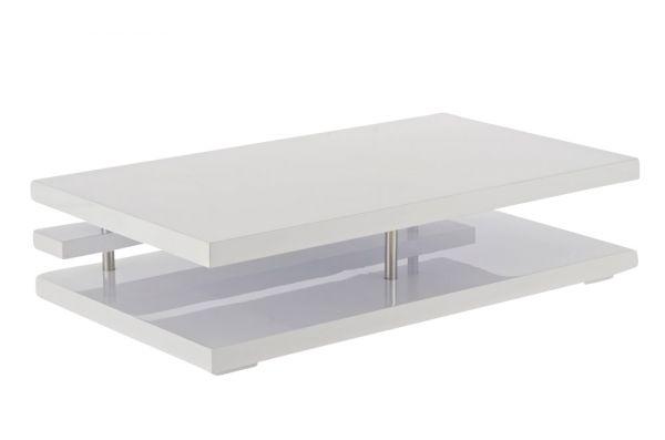 Design Couchtisch Oberon 80x140x34 cm, weiß Hochglanz
