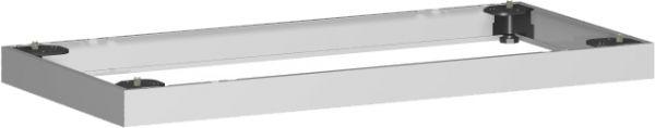 Metallsockel, Auswahl entsprechend Schrankbreite, 80x5cm, Silber